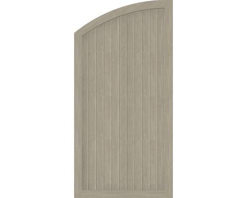 Abschlusselement BasicLine Typ H links 90 x 180/150 cm, sheffield oak