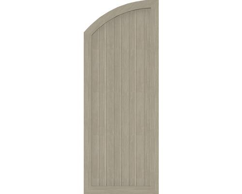 Abschlusselement BasicLine Typ H links 70 x 180/150 cm, sheffield oak