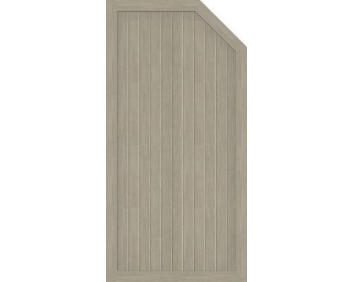 Abschlusselement BasicLine Typ E rechts 90 x 180/150 cm, sheffield oak