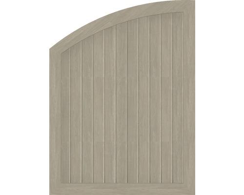 Abschlusselement BasicLine Typ R links 90 x 120/90 cm, sheffield oak