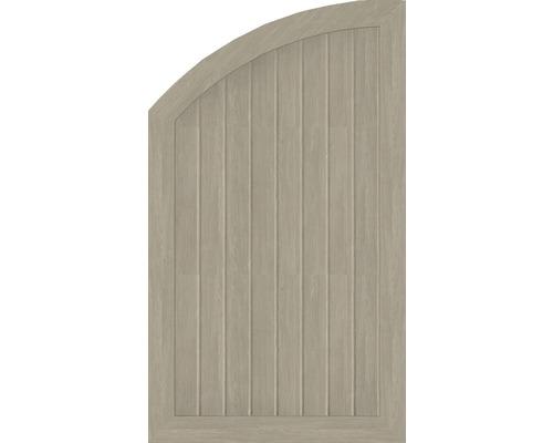 Abschlusselement BasicLine Typ R links 70 x 120/90 cm, sheffield oak
