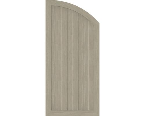 Abschlusselement BasicLine Typ Q rechts 70 x 150/120 cm, sheffield oak