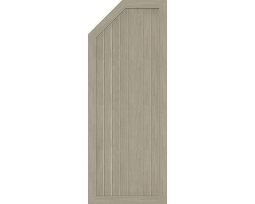 Abschlusselement BasicLine Typ E links 70 x 180/150 cm, sheffield oak