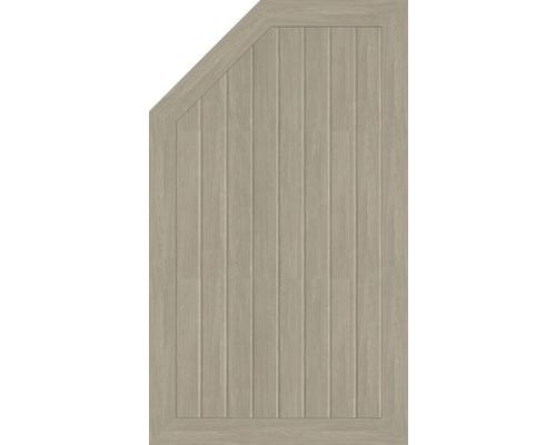 Abschlusselement BasicLine Typ M links 70 x 120/90 cm, sheffield oak