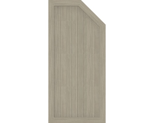 Abschlusselement BasicLine Typ L rechts 70 x 150/120 cm, sheffield oak