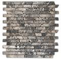 Natursteinmosaik Emperado braun 30,5x30,5
