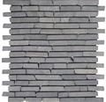 Bruchmosaik Slim Brick graphit tumbled