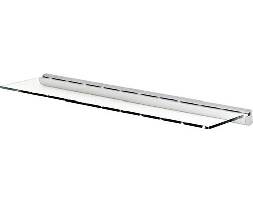 Glasregalset LED B 800 x T 200 x H 8 mm klar/silber