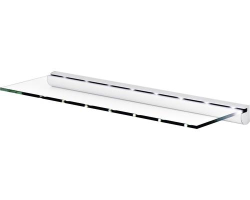 Glasregalset LED B 600 x T 200 x H 8 mm klar/silber