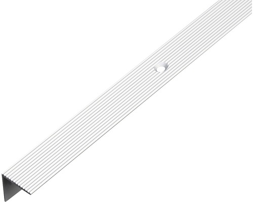 Treppenprofil Aluminium silber 21x21x1,8 mm, 1 m