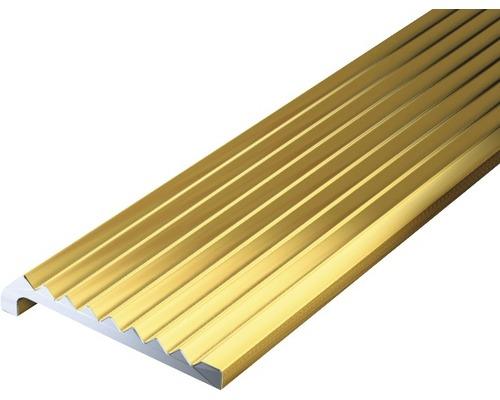 Abschlussprofil Aluminium gold 23x6,3x2 mm, 1 m