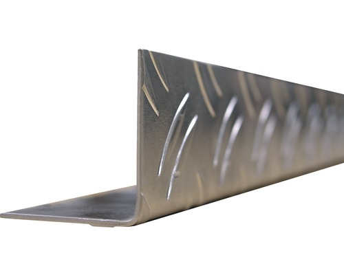 Riffelwinkel Aluminium 35,5x35,5, 2 m