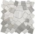 Bruchmosaik polygonal grau 30,5x30,5 cm