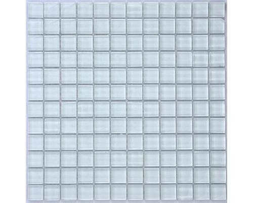 Glasmosaik uni weiß glänzend 30x30 cm