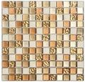 Mosaik Glas+Stein Sunrise gold/braun/creme