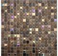 Glasmosaik Perlmut braun mix 30x30 cm