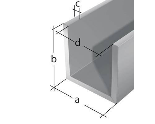 1500mm Aluminium U-Profil 15x30x15mm Kantenprofil aus 1 mm Aluminium silber natur eloxiert Abdeckprofi