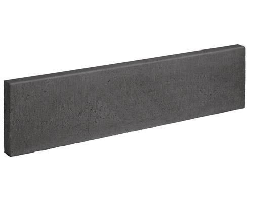 Rasenbordstein anthrazit 100x25x6cm beidseitig gefast