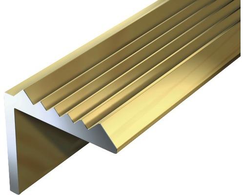Treppenprofil Aluminium gold 21x21x1,8 mm, 1 m