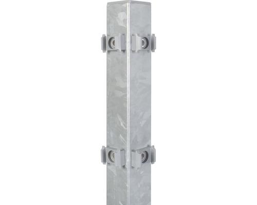 Eckpfosten für Doppelstabmatte 6 x 6 x 225 cm, feuerverzinkt