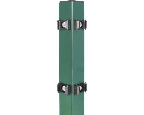 Eckpfosten für Doppelstabmatte 6 x 6 x 200 cm, grün