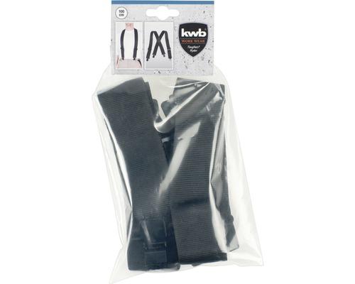 Hosenträger Schwarz 100cm