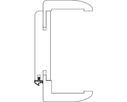 Komplettzarge Pertura CPL weiß bombiert 198,5x73,5x26,5 cm Rechts