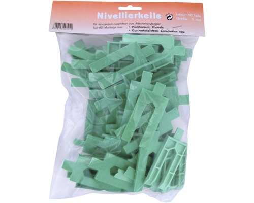 Nivelierkeile grün 5 mm Beutel 50 Stück