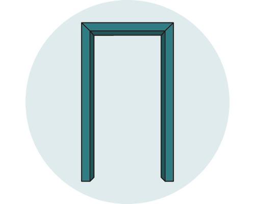 Komplettzarge Pertura Dekor Buche 198,5x98,5x12,0 cm Links