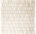 Glasmosaik mit Naturstein mix beige 31,3x31,8 cm
