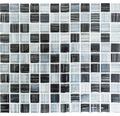Glasmosaik schwarz/weiß 30,2x32,7 cm 8mm stark
