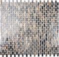 Glasmosaik braun/gold 30,5x32,7 cm
