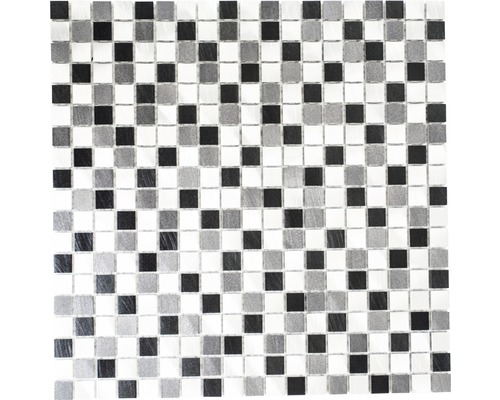 Aluminiummosaik grau schwarz 31,7x31,7 cm