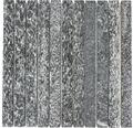 Natursteinmosaik Quarzit anthrazit 2,5x30cm /30,5x32,5 cm