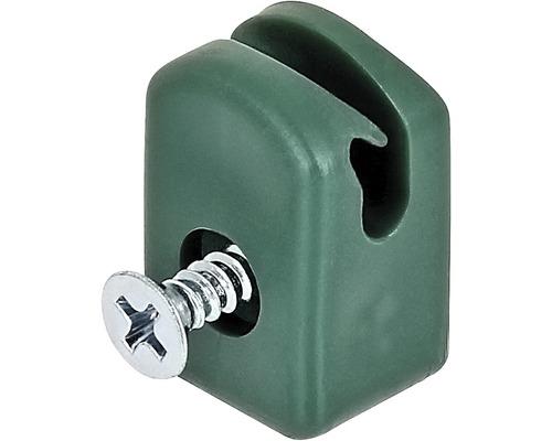 Spanndrahthalter mit Schraube 10 Stück, grün