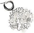 Perlen-Set mit Kordel weiß-silber
