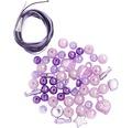 Perlen-Set mit Kordel lila