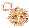 Perlen-Set mit Kordel orange