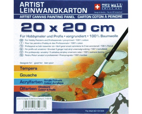 Malkarton 20x20 cm