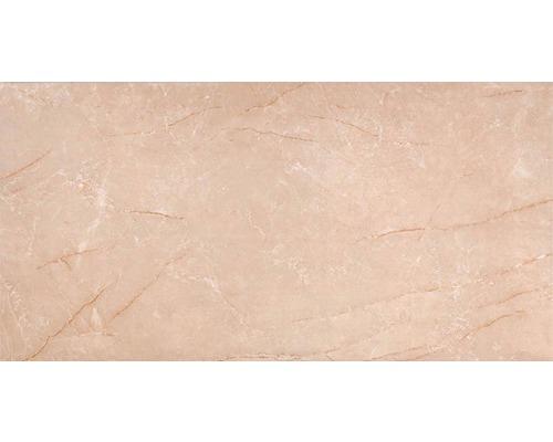 Wandfliese beige marmoriert glänzend 30 x 60 cm