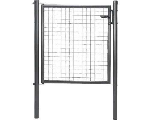Wellengittertor 100 x 100 cm, anthrazit