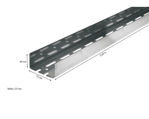 UA Aussteifungsprofil KNAUF 75x40mm 2,60 m