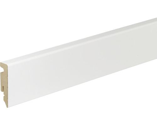 Sockelleiste Skandor weiß FU62L 15x58x1950 mm