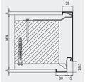 Stahlzarge Hörmann 625x2000 mm MW 100 Links/Rechts lichtgrau RAL 7035 grundiert (1 Teilig/1Schalig)