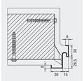 Eckzarge Hörmann 875x2000 mm Links/Rechts lichtgrau RAL 7035 grundiert (1 Teilig)