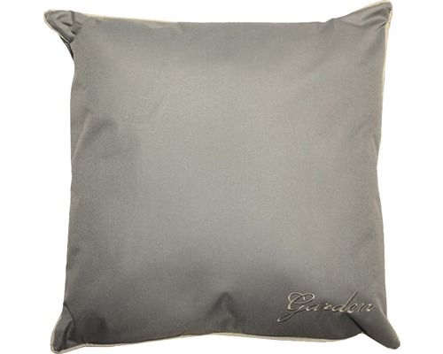 Dekokissen Polyester 45x45 cm grau