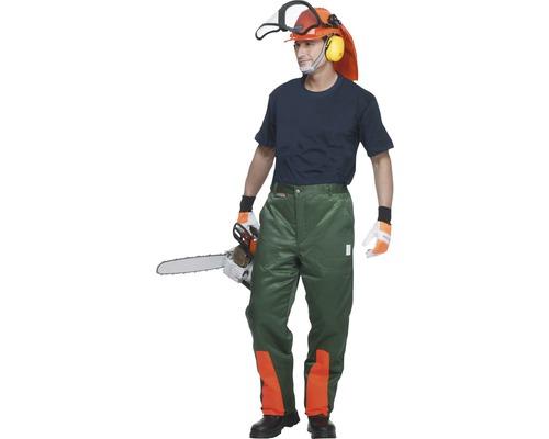 Schnittschutzhose grün/orange Gr. 60
