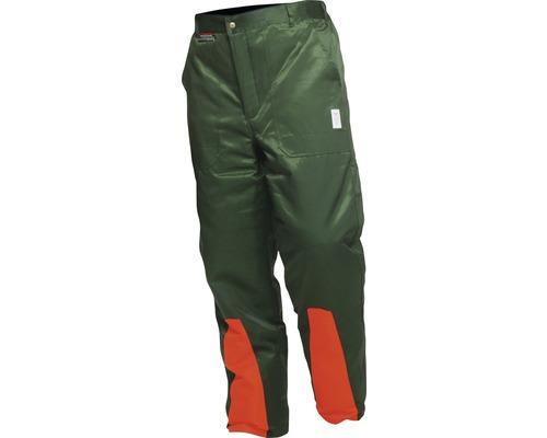 Schnittschutzhose grün/orange Gr. 56