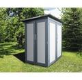 Gartenschrank weka Kompakt Q 200x125x217 cm grau-weiß