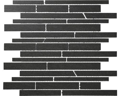 Feinsteinzeugmosaik Sienna schwarz 30x30 cm